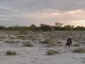 25 Namibie Etosha před západem slunce