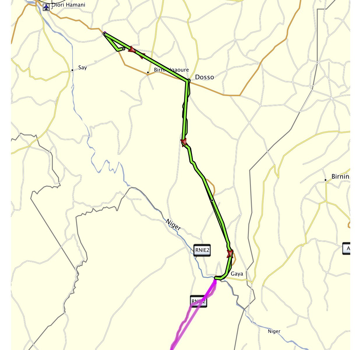 Niger projetá trasa