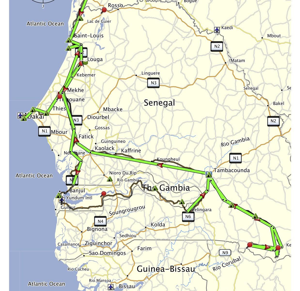 Senegal projetá trasa