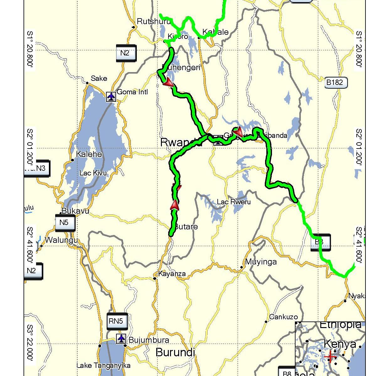Rwanda projetá trasa