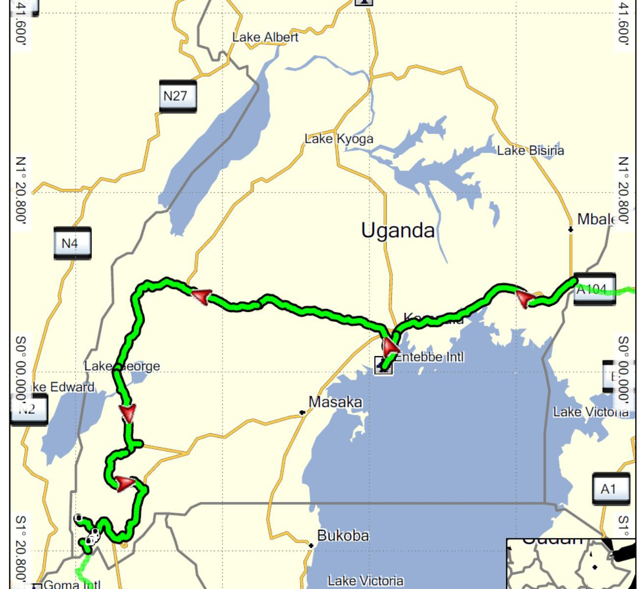 Uganda projetá trasa