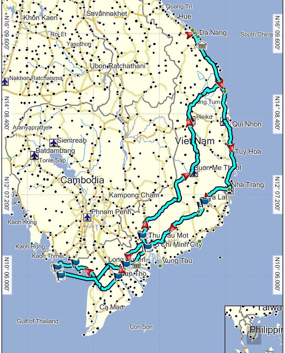 Vietnam projetá trasa